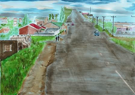 Road to Cecilia Makiwane Hospital artwork